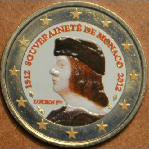 2 Euro Monaco 2012 - The 500th anniversary of the foundation of Monaco's Sovereignty (colored UNC)