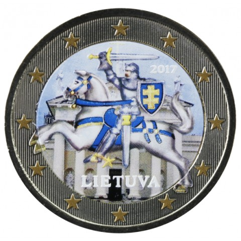 2 Euro Lithuania 2017 (colored UNC)