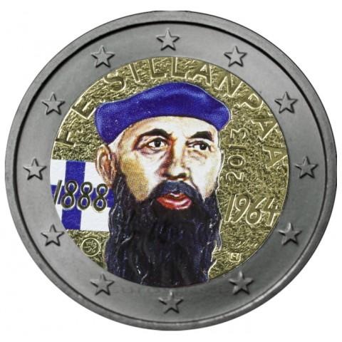 2 Euro Finland 2013 - 125th Anniversary of the birth of Nobel prize winning author F.E.Sillanpaa V. (colored UNC)