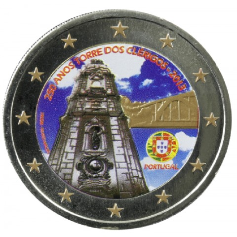 2 Euro Portugal 2013 - 250 Years of the Torre dos Clérigos V. (colored UNC)