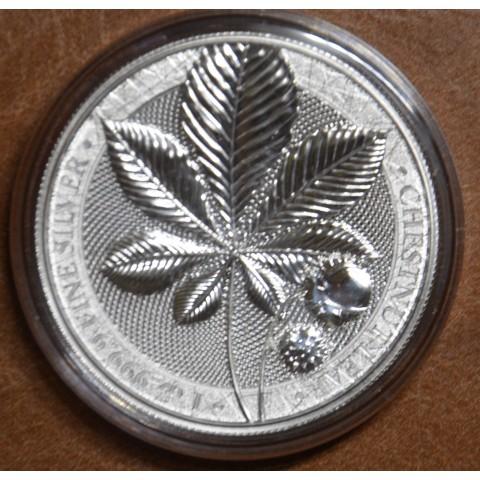5 Mark Germania 2021 - Mythical Forest: Chestnut Leaf (1 oz Ag)