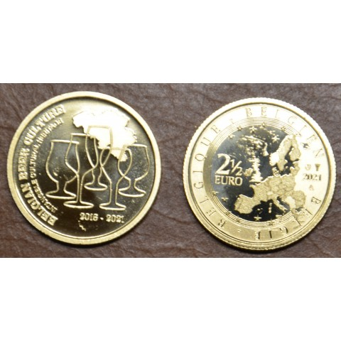 2,5 Euro Belgium 2021 - Bier culture of Belgium (UNC)
