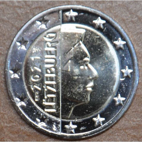 """2 Euro Luxembourg 2021 with """"bridge"""" mintmark (UNC)"""