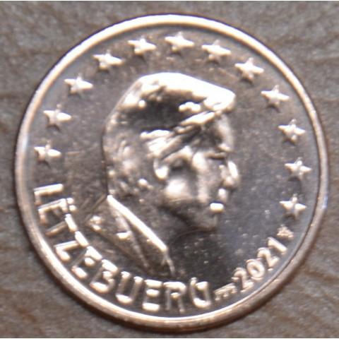 "2 cent Luxembourg 2021 with ""bridge"" mintmark (UNC)"