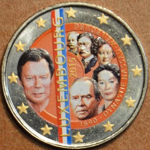 2 Euro Luxembourg 2015 - Dynasty Nassau-Weilburg III. (colored UNC)
