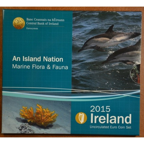 Official set of 8 coins of the Ireland 2015  (BU)