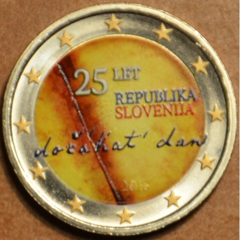 2 Euro Slovenia 2016 - The 25th anniversary of independence of Slovenia IV. (colored UNC)