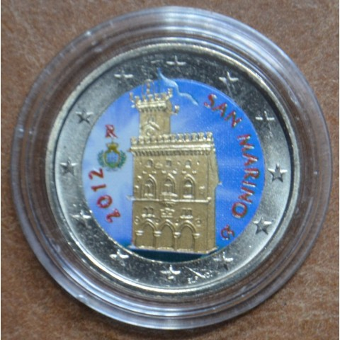 2 Euro San Marino 2012 - Government House (colored UNC)