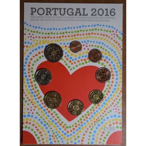 Portugal 2016 set of 8 coins (UNC)