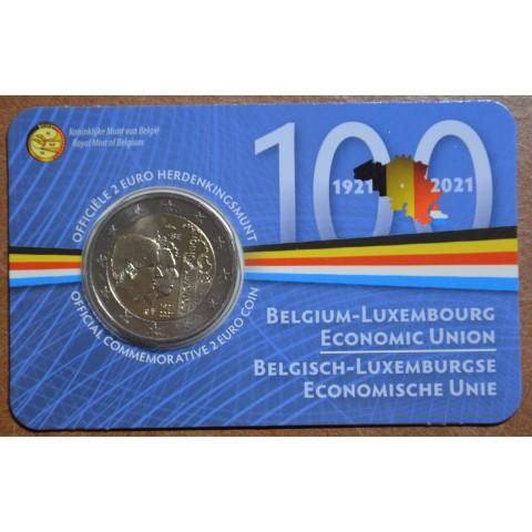 2 Euro Belgium 2021 - 100 years of BLEU (BU - dutch side)