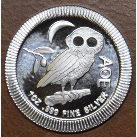 2 dollars Niue 2021 Owl Athena (1 oz. Ag)