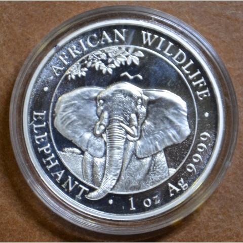 100 Shillings Somália 2021 - Elephant (1 oz Ag)