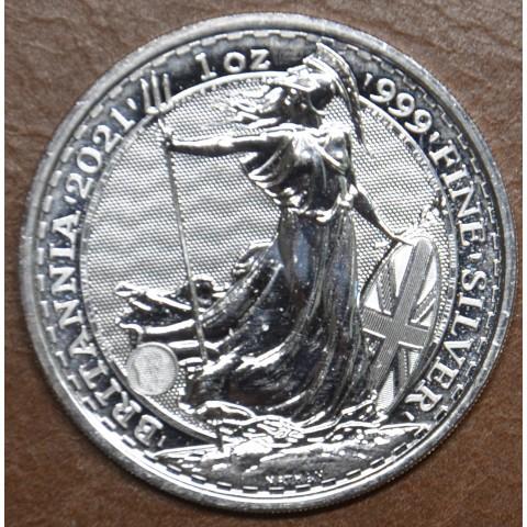 2 pounds Great Britain 2021 Britannia  (1 oz. Ag)