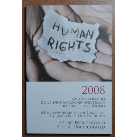 2 Euro Italy 2008 - 60th anniversary of the Universal Declaration of Human Rights (BU)