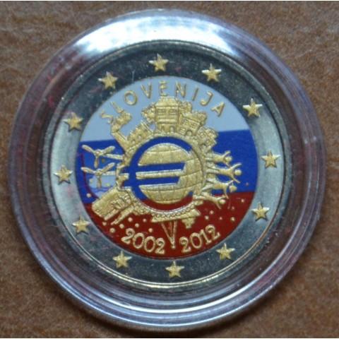 2 Euro Slovenia 2012 - Ten years of Euro III. (colored UNC)