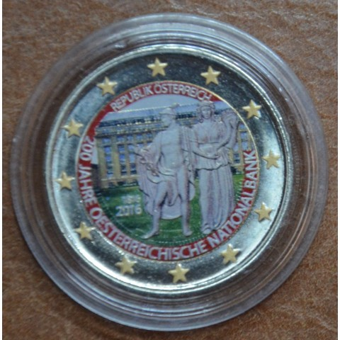 2 Euro Austria 2016 - 200 years of Austrian National Bank V. (colored UNC)