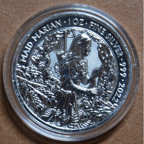 2 pounds Great Britain 2022 Maid Marian (1 oz. Ag)