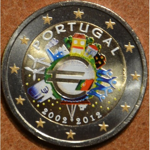 2 Euro Portugal 2012 - Ten years of Euro  (colored UNC)