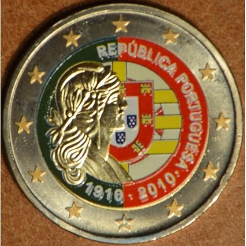 2 Euro Portugal 2010 - 100th anniversary of the Portugal Republic  (colored UNC)