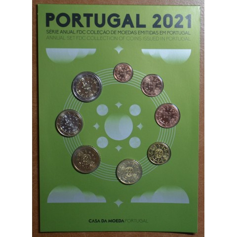 Portugal 2021 set of 8 coins (UNC)