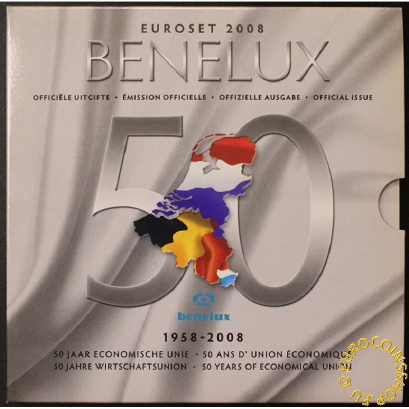 Official set of coins BeNeLux 2008  (BU)
