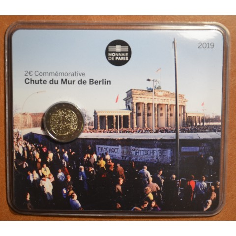 2 Euro France 2019 - 30th Anniversary of the Fall of the Berlin Wall (BU card)