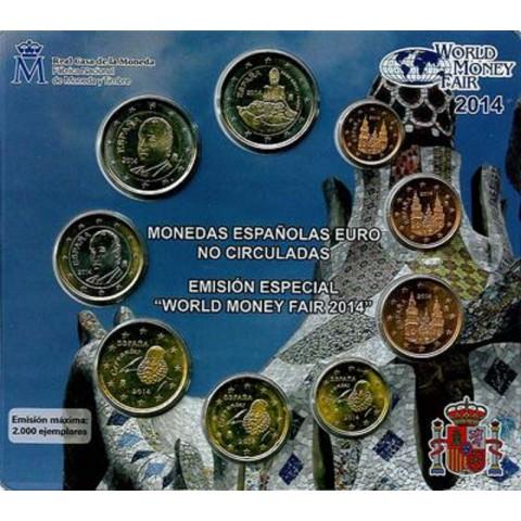 Spain 2014 set of 9 coins (UNC)