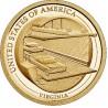 "1 dollar USA 2021 Virginia ""D"" (UNC)"