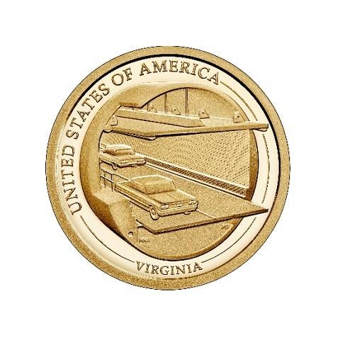 "1 dollar USA 2021 Virginia ""P"" (UNC)"