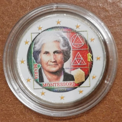 2 Euro Italy 2020 - Maria Montessori III. (colored UNC)