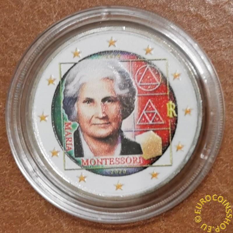 2 Euro Italy 2020 - Maria Montessori II. (colored UNC)