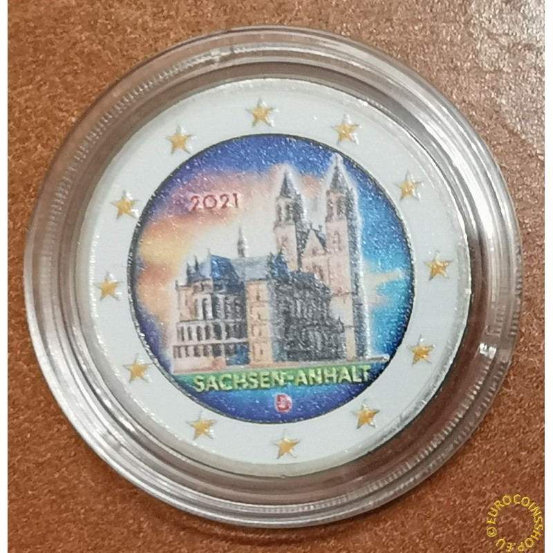 2 Euro Germany 2021 - Sachsen-Anhalt (colored UNC)