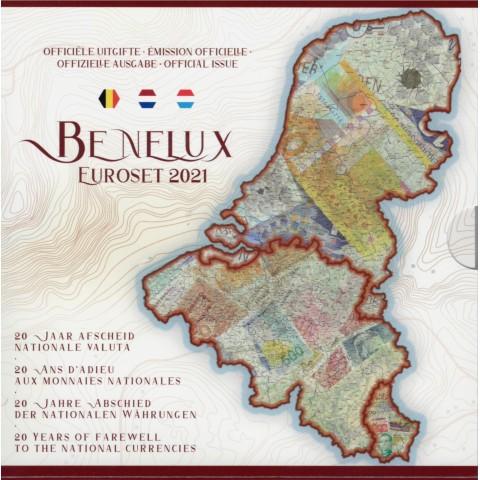 BeNeLux 2021 - set of 24 eurocoins (BU)