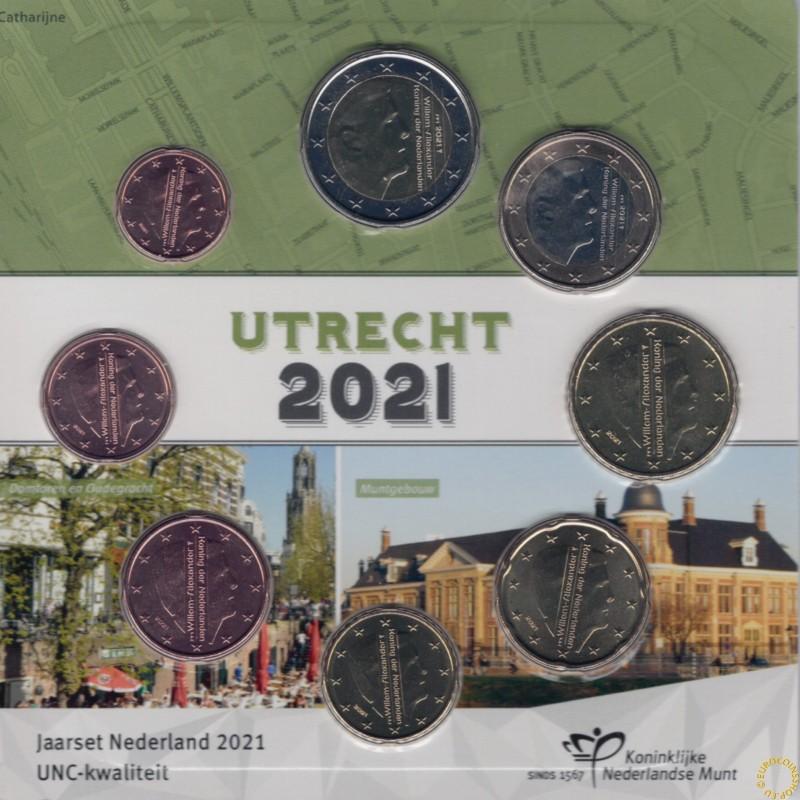 Netherlands 2021 - Utrecht set of 8 coins (UNC)