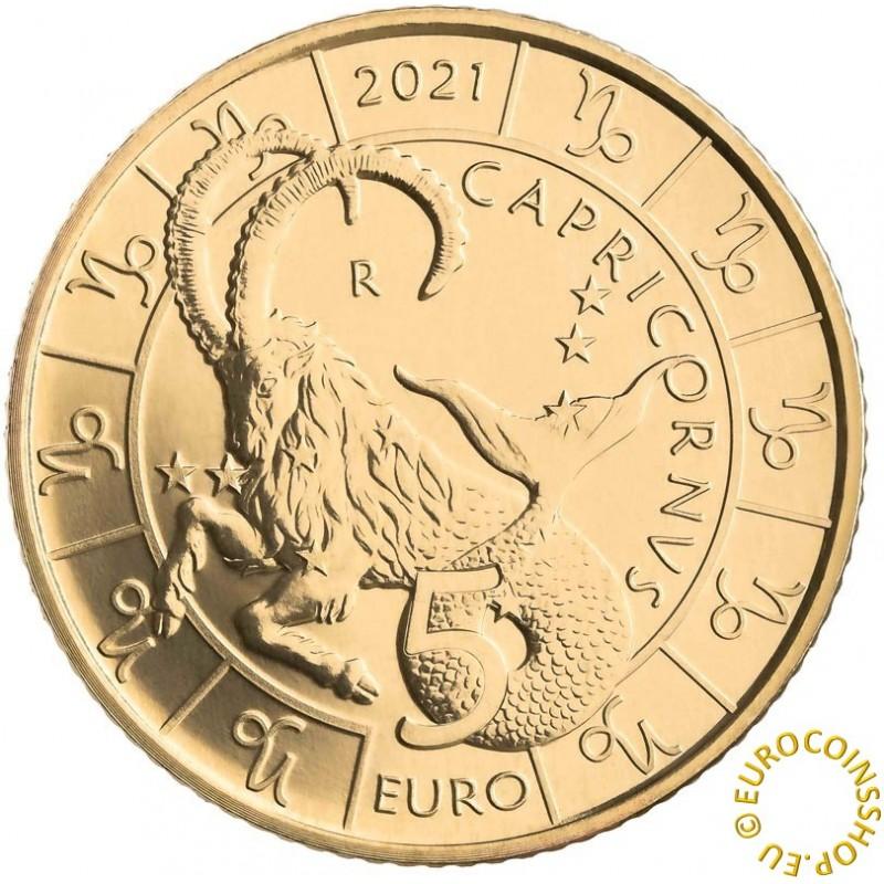 5 Euro San Marino 2021 Zodiac: Capricornus (UNC)