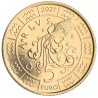 5 Euro San Marino 2021 Zodiac: Aquarius (UNC)
