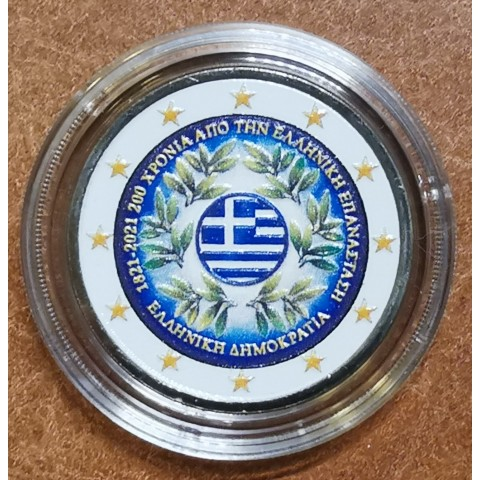 2 Euro Greece 2021 - 200 years of the Greek Revolution (colored UNC)