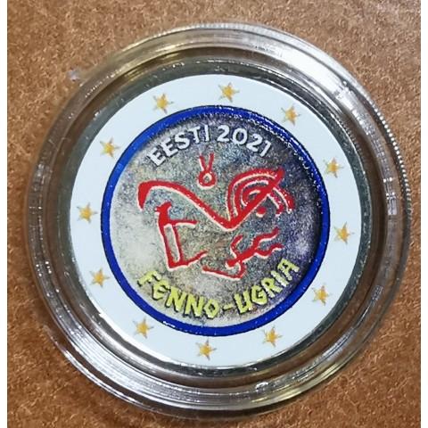 2 Euro Estonia 2021 - Finno-Ugric people (colored UNC)