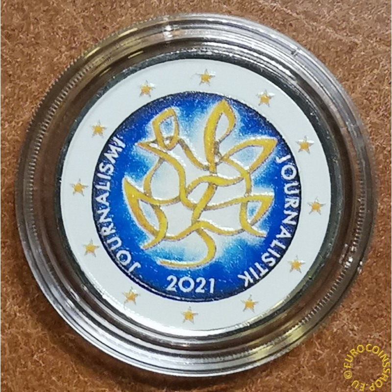 2 Euro Finland 2021 - Journalism (colored UNC)