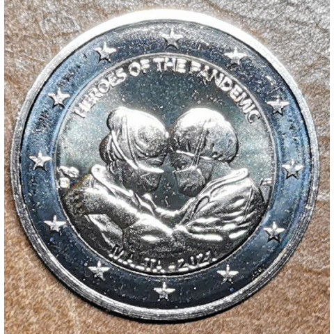 2 Euro Malta 2021 - Heroes of the Pandemic (UNC)