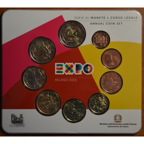 Italy 2015 set with commemorative 2 Euro coin (BU)