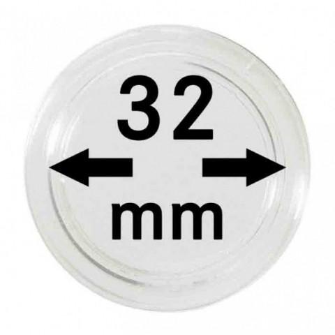Lindner coin capsules 32 mm (10 pcs)