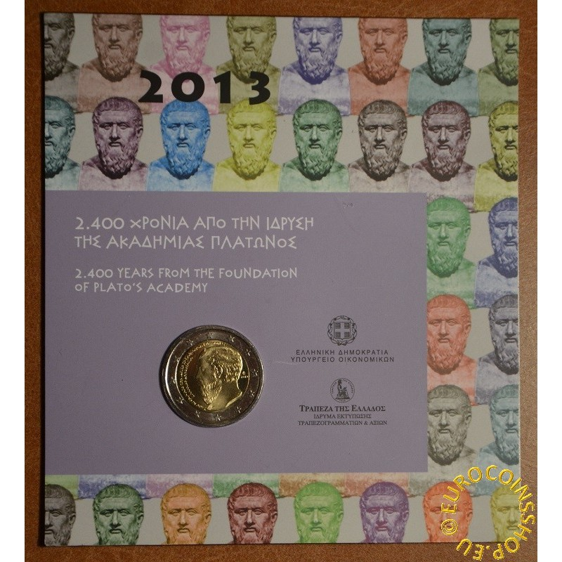 2 Euro Greece 2013 - The 2400th Anniversary of the founding of Plato's Academy (BU)
