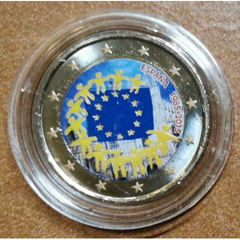 2 Euro Spain 2015 - 30 years of European flag III. (colored UNC)