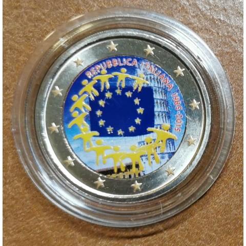 2 Euro Italy 2015 - 30 years of European flag III. (colored UNC)