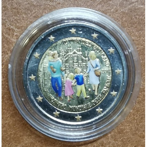 2 Euro Vatican 2012 - 7th  World Meeting of Families III. (colored UNC)