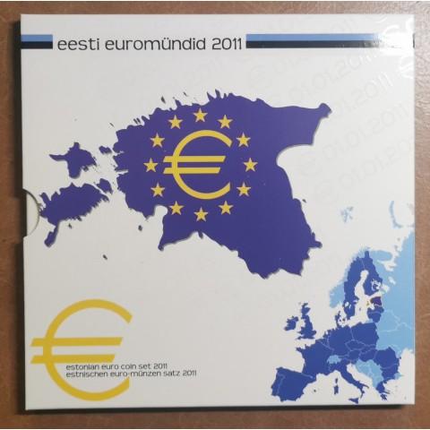 Set of 8 eurocoins Estonia 2011 (BU)