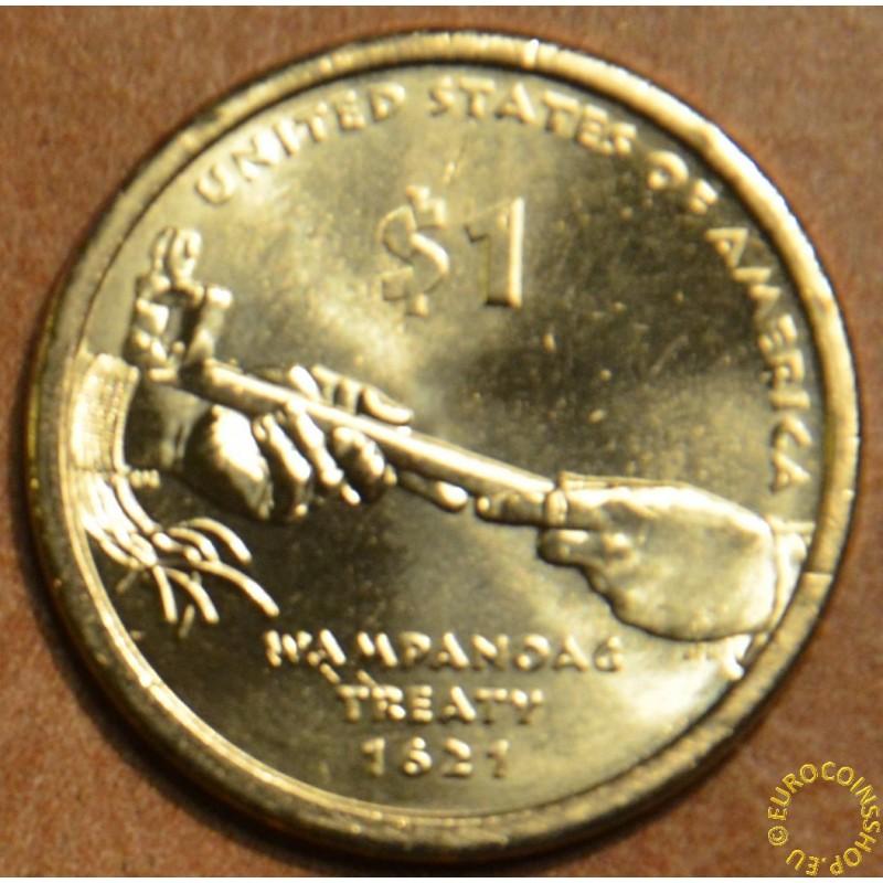"1 dollar USA ""P"" 2011 - Wampanoag Treaty 1621 (UNC)"