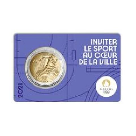 2 Euro France 2021 - Paris 2024 Olympic Games (Blue BU card)