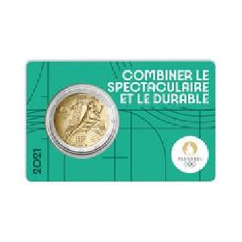 2 Euro France 2021 - Paris 2024 Olympic Games (green BU card)
